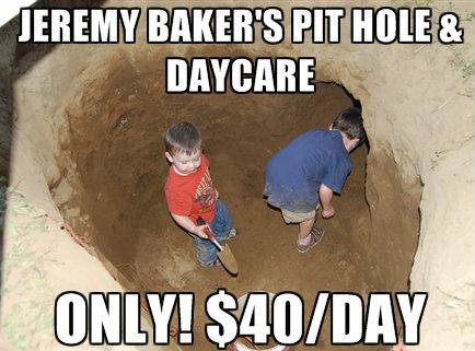 Pit hole